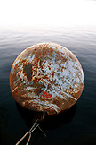 USA, Arizona, Page, Lake Powell, a large metal buoy at the Antelope Point Marina East of Page