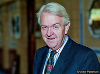 Nicholas Scott, MP, Conservative Party, UK, September, 1994, 199409002519<br /><br />Copyright Image from Victor Patterson, 54 Dorchester Park, <br />Belfast, UK, BT9 6RJ<br /><br />t1: +44 28 9066 1296 (from Rep of Ireland 048 9066 1296)<br />m: +44 7802 353836<br />e: victorpattersonbelfast@gmail.com<br />w: www,victorpatterson.com<br /><br />Please see my Terms and Conditions of Use at https://www.victorpatterson.com/page2<br />It is IMPORTANT that you familiarise yourself with them.<br /><br />Images used on the Internet incur an additional cost and must be visibly watermarked i.e. © Victor Patterson within the body of the image and copyright metadata must not be deleted. Images used on the Internet have a size restriction of 4kbs and are chargeable at rates available at victorpatterson.com.<br /><br />This image is only available for the use of the download recipient i.e. television station, newspaper, magazine, book publisher, etc, and must not be passed on to any third party. It is also downloaded on condition that each and every usage is notified within 7 days to victorpattersonbelfast@gmail.com.<br /><br />The right of Victor Patterson to be identified as the author is asserted in accordance with The Copyright Designs And Patents Act (1988). All moral rights are asserted.