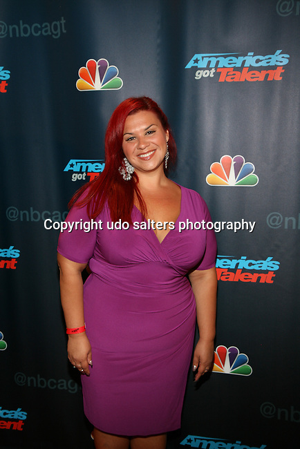 AGT Contestant Deanna DellaCioppa At America's Got Talent Post Show Red Carpet at Radio City Music Hall, NY