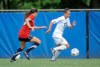 2 October 2011:  FIU forward Deana Rossi (17) moves the ball upfield while being pursued by South Alabama defender Tatum Perry (20) in the second half as the FIU Golden Panthers defeated the University of South Alabama Jaguars, 2-0, at University Park Stadium in Miami, Florida.