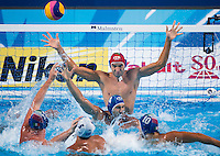 TEMPESTI Stefano ITA <br /> GREECE vs ITALY<br /> GRE vs ITA<br /> Waterpolo - Men's 3rd-4th place <br /> Day 16 08/08/2015<br /> XVI FINA World Championships Aquatics Swimming<br /> Kazan Tatarstan RUS July 24 - Aug 9 2015 <br /> Photo Giorgio Perottino/Deepbluemedia/Insidefoto