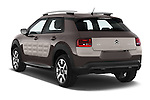 Car pictures of rear three quarter view of a 2014 Citroen C4 CACTUS Shine Edition Midnight 5 Door Mini Van 2WD Angular Rear