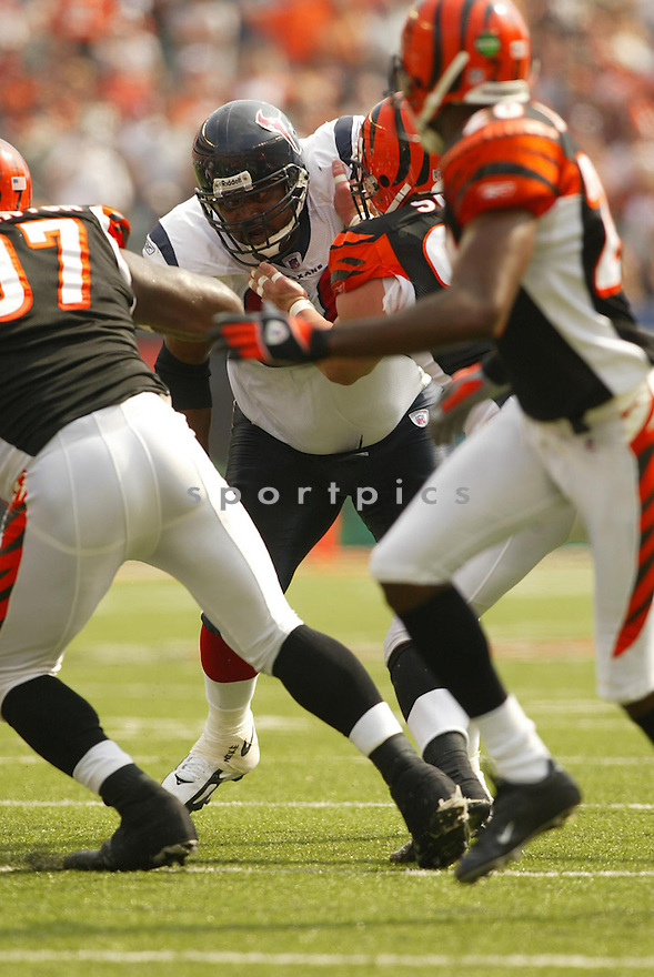 Victor Riley, of the Houston Bengals, during thier game against the Cincinnati Bengals on October 2, 2005...Kevin Tanaka / SportPics..Begals win 16-10