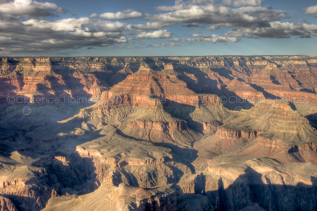 Grand Canyon view from Hopi Point late on a winter afternoon