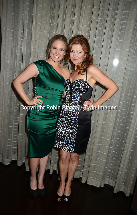 Terri Conn and Anne Sayre  attend the Marcia Tovsky Soap Stars Party on May 9, 2013 at NOIR, NYC  in New York City.