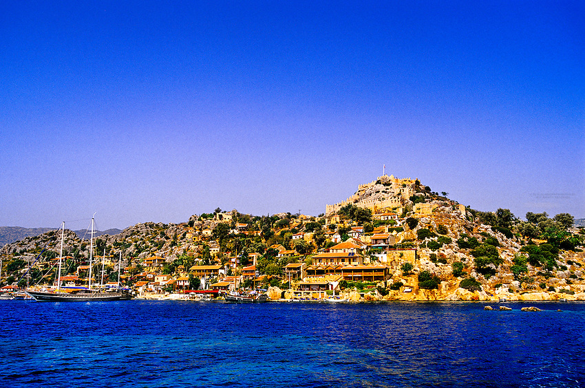 Kale (Simena Castle in background), Kekova Sound (Turqoise Coast), Turkey