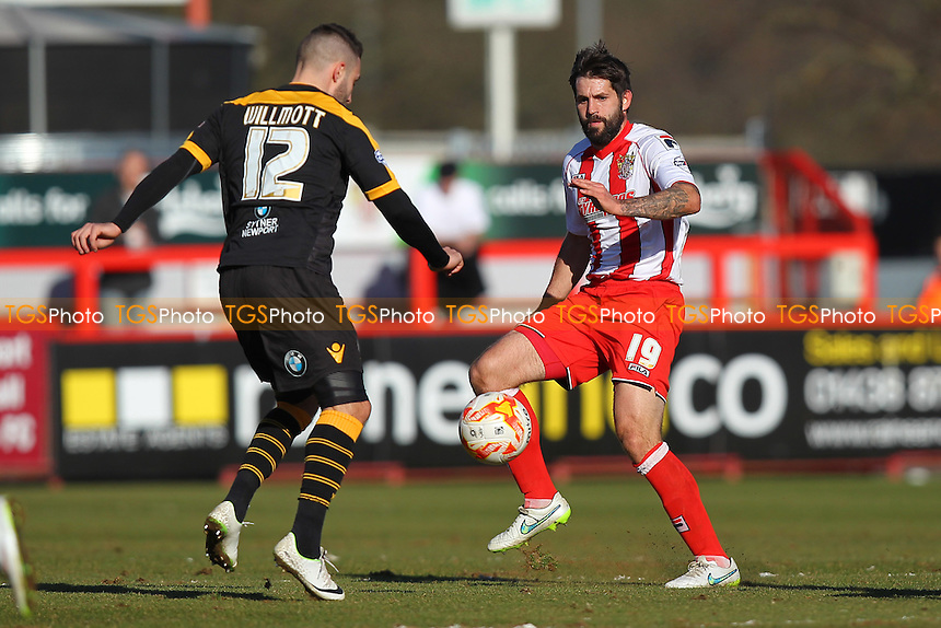 Dean Wells in action for Stevenage - Stevenage vs Newport County - Sky Bet League Two Football at the Lamex Stadium, Broadhall Way, Stevenage - 07/03/15 - MANDATORY CREDIT: Gavin Ellis/TGSPHOTO - Self billing applies where appropriate - contact@tgsphoto.co.uk - NO UNPAID USE