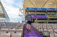 Essex head coach Anthony McGrath walks to the field ready for the warm-up prior to Hampshire vs Essex Eagles, Vitality Blast T20 Cricket at the Ageas Bowl on 25th August 2019