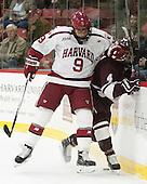 Luke Esposito (Harvard - 9), Kevin Lough (Colgate - 4) - The Harvard University Crimson defeated the visiting Colgate University Raiders 7-4 (EN) on Saturday, February 20, 2016, at Bright-Landry Hockey Center in Boston, Massachusetts,