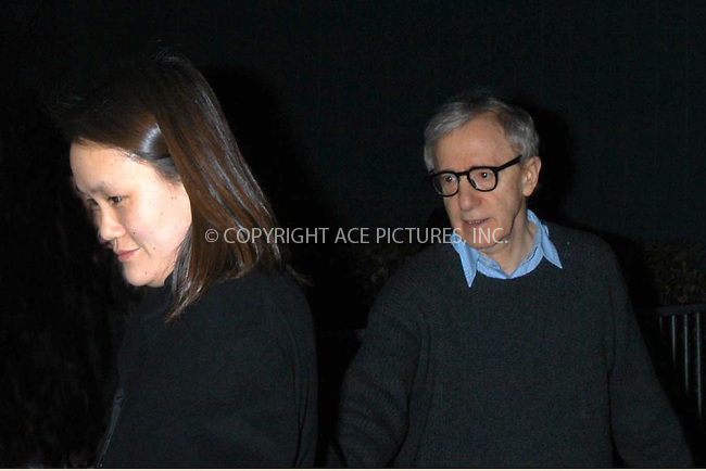 woody and soon-yi at melinda and melinda premier.  bocklet.