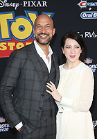 "HOLLYWOOD, CA - JUNE 11: Keegan-Michael Key, Elisa Key, at The Premiere Of Disney And Pixar's ""Toy Story 4"" at El Capitan theatre in Hollywood, California on June 11, 2019. <br /> CAP/MPIFS<br /> ©MPIFS/Capital Pictures"