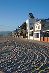 Beach front homes in Venice Beach, CA