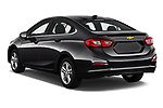 Car pictures of rear three quarter view of 2018 Chevrolet Cruze LT-Auto 4 Door Sedan Angular Rear