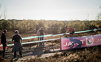 racing at sunset<br /> <br /> CX Superprestige Zonhoven 2016