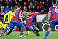 Yohan Cabaye of Crystal Palace during the Premier League match between Crystal Palace and Watford at Selhurst Park, London, England on 12 December 2017. Photo by Carlton Myrie / PRiME Media Images.