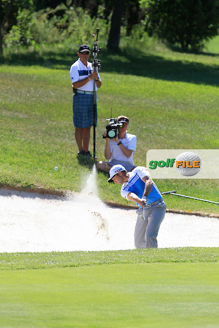 Sergio Garcia (ESP) on the 2nd green during Round 2 of the Open de Espana  in Club de Golf el Prat, Barcelona on Friday 15th May 2015.<br /> Picture:  Thos Caffrey / www.golffile.ie