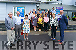 Tralee Lions Club President Brendan Kenny today distributed  €40,000 raised  at the 43rd Tralee Lions Club Annual Golf Classic was staged recently at Tralee Golf Club. among 14 charities to include, Carers Association, Tralee & West Kerry Branch of MS, Fenit Life Boat, Kerry Hospice, Ballyheigue Inshore Rescue, Pieta House Kerry, Kerry Friends of  Motor Neurone, Animal Help Net Kerry, Novas, Inspired, Kerry Information & Disability Services Team, Open Arms Kerry, Guide Dogs and finally Kerry Head/Ballyheigue Resourse Centre. Pictured with members  Joan O'Regan, George Groves, Eleanor Collins and Teddy Reynolds, Jean Campbell, Animal Help Net Kerry, Audrey Moran, Tralee West Kerry MS Branch. Back from left; Joe Hennebery, Kerry Hospice; Seamus Falvey, Kerryhead Ballyheigue Rescue Centre; Christy Lehane, Kerry Friends of Motor Neuron; Maureen Curtin, Pieta House; Michael O'Connor, Fenit Lifeboat; Ronan Doherty of NOVAS at Ballyroe Heights Hotel on Monday
