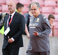 Leeds United manager Marcelo Bielsa acknowledges the travelling fans as he leaves the pitch after the match<br /> <br /> Photographer Stephen White/CameraSport<br /> <br /> The Premier League - Stoke City v Leeds United - Saturday August 24th 2019 - bet365 Stadium - Stoke-on-Trent<br /> <br /> World Copyright © 2019 CameraSport. All rights reserved. 43 Linden Ave. Countesthorpe. Leicester. England. LE8 5PG - Tel: +44 (0) 116 277 4147 - admin@camerasport.com - www.camerasport.com