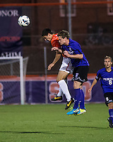 The number 24 ranked Furman Paladins took on the number 20 ranked Clemson Tigers in an inter-conference game at Clemson's Riggs Field.  Furman defeated Clemson 2-1.  Ara Amirkhanian (21), Eric Steber (27)