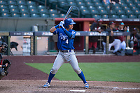 Kansas City Royals catcher Sebastian Rivero (4) at bat during an Instructional League game against the Arizona Diamondbacks at Chase Field on October 14, 2017 in Scottsdale, Arizona. (Zachary Lucy/Four Seam Images)