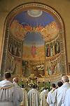 Israel, Jerusalem, Visitation Day at the Church of the Visitation in Ein Karem