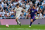 Real Madrid's Marco Asensio and Real Club Celta de Vigo's Kevin Vazquez during La Liga match between Real Madrid and Real Club Celta de Vigo at Santiago Bernabeu Stadium in Madrid, Spain. March 16, 2019. (ALTERPHOTOS/A. Perez Meca)