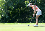 SIOUX FALLS, SD - SEPTEMBER 3: Emily Childs rolls her birdie putt to the cup on the 4th hole during the final round of the 2017 Great Life Challenge Symetra Tour stop at Willow Run in Sioux Falls.  (Photo by Dave Eggen/Inertia)