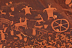 Detail of petroglyph carvings on Newspaper Rock, near Canyonlands National Park, Utah