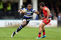 Semesa Rokoduguni of Bath Rugby in possession. Aviva Premiership match, between Bath Rugby and Worcester Warriors on October 7, 2017 at the Recreation Ground in Bath, England. Photo by: Patrick Khachfe / Onside Images