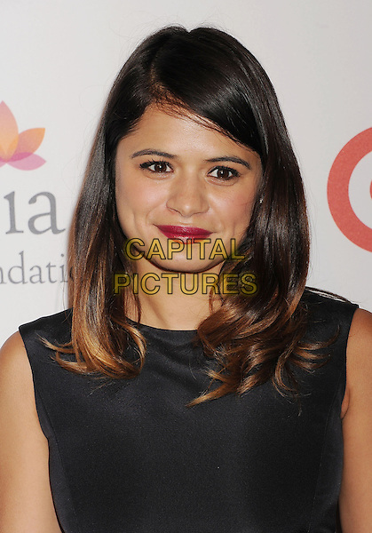 Melonie Diaz<br /> The Eva Longoria Foundation Dinner at Beso restaurant in Hollywood, California, USA.<br /> September 28, 2013<br /> portrait headshot red lipstick makeup black <br /> CAP/ROT/TM<br /> &copy;Tony Michaels/Roth Stock/Capital Pictures