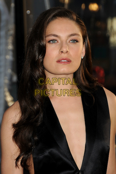 ALEXA DAVALOS.'Clash Of The Titans' Los Angeles Premiere held at Grauman's Chinese Theatre, Hollywood, California, USA..March 31st, 2010.headshot portrait black sleeveless silk satin plunging neckline top.CAP/ADM/BP.©Byron Purvis/AdMedia/Capital Pictures.