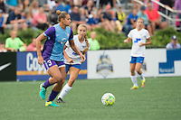 Allston, MA - Sunday July 31, 2016: Toni Pressley, Stephanie Verdoia during a regular season National Women's Soccer League (NWSL) match between the Boston Breakers and the Orlando Pride at Jordan Field.