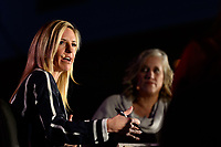Philadelphia, PA - Thursday January 18, 2018: Aly Wagner during the 2018 NWSL College Draft at the Pennsylvania Convention Center.