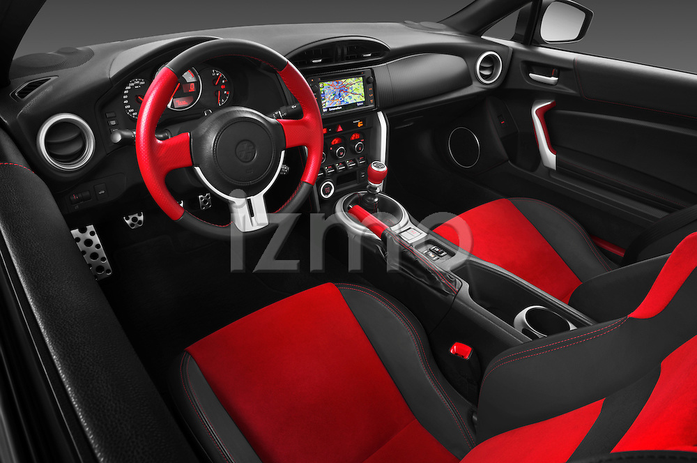 High angle dashboard view of a 2013 Toyota GT86 Sport Coupe