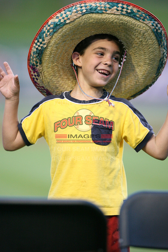 April 15, 2009:  A fan during an on field promotion in between innings during a game at Space Coast Stadium in Viera, FL.  Photo by:  Mike Janes/Four Seam Images