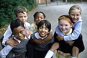 Children in a primary school playground, Birmingham.