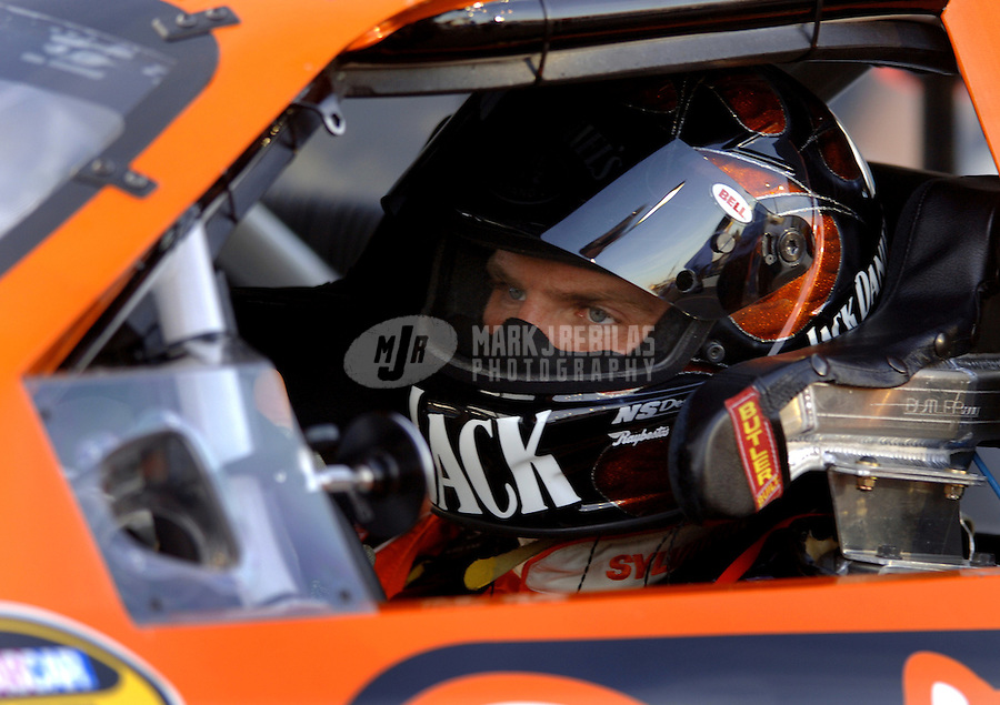 Apr 20, 2006; Phoenix, AZ, USA; Nascar Nextel Cup racer Clint Bowyer driver of the (07) Jack Daniels/Sylvania Chevrolet Monte Carlo during qualifying for the Nextel Cup Subway Fresh 500 at Phoenix International Raceway. Mandatory Credit: Mark J. Rebilas