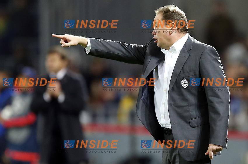 CSKA Moscow's head coach Leonid Slutsky <br /> Mosca 28-09-2016 <br /> CSKA - Tottenham Hotspurs<br /> Foto ITAR TASS / Panoramic / Insidefoto <br /> ITALY ONLY