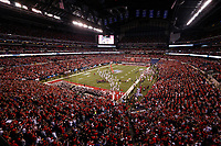 The Ohio State Buckeyes take the field before the Big Ten Football Championship between the Wisconsin Badgers and the Ohio State Buckeyes on Saturday, December 2, 2017 at Lucas Oil Stadium in Indianapolis. [Joshua A. Bickel/Dispatch]
