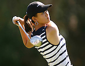 March 28, 2004; Rancho Mirage, CA, USA;  14 year old amateur Michelle Wie tees off during the final round of the LPGA Kraft Nabisco golf tournament held at Mission Hills Country Club.  Wie finished the day with a 1 under par 71.  Her overall score of 7 under par 281 was low enough to win low amateur honors and 4th place overall.<br />Mandatory Credit: Photo by Darrell Miho <br />&copy; Copyright Darrell Miho