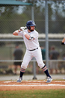 Western Connecticut Colonials third baseman Joe Daigle (2) at bat during the second game of a doubleheader against the Edgewood College Eagles on March 13, 2017 at the Lee County Player Development Complex in Fort Myers, Florida.  Edgewood defeated Western Connecticut 3-1.  (Mike Janes/Four Seam Images)