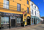 Historic pubs colourful buildings, Kinsale, County Cork, Ireland, Irish Republic