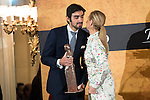 Miguel Angel Perera, winner of the 2015 prize Paquiro and President Madrid Region, Cristina Cifuentes at the Ritz Hotel in Madrid. 01 October 2015.<br /> (ALTERPHOTOS/BorjaB.Hojas)