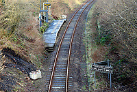 Sugar Loaf railway station is the most remote station on the Heart of Wales Line, situated by the A483 road, Powys, Wales, UK. Friday 01 December 2017