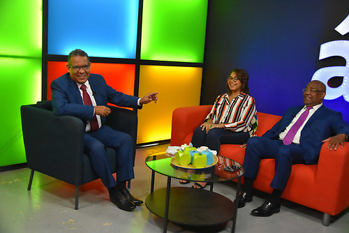 Gustavo Olivo Peña, Olaya Dotel y Cándido Mercedes.