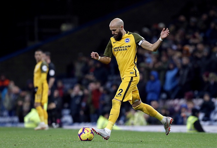 Brighton & Hove Albion's Bruno Saltor<br /> <br /> Photographer Rich Linley/CameraSport<br /> <br /> The Premier League - Burnley v Brighton and Hove Albion - Saturday 8th December 2018 - Turf Moor - Burnley<br /> <br /> World Copyright © 2018 CameraSport. All rights reserved. 43 Linden Ave. Countesthorpe. Leicester. England. LE8 5PG - Tel: +44 (0) 116 277 4147 - admin@camerasport.com - www.camerasport.com