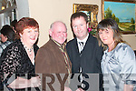 Francis and Patsy Kennedy, left with John and Jackie Kelliher, enjoying the Listowel Community Hospital social in The Arms Hotel on Saturday night..   Copyright Kerry's Eye 2008