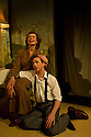 "London, UK. 10/10/2011. ""Drama at Inish"", by Lennox Robinson, opens at the multi-award winning Finborough Theatre. Cast comprises: Juliet Cadzow, Anthony Delaney, Rupert Frazer, Hermione Gulliford, Seamus Hoolihan, Celia Imrie, Jack Klaff, Lee Knight, Christopher Logan, Frances Low, Oengus MacNamara. Ellie Turner, David Walshe. Picture shows:Celia Imrie (as Lizzie Twohig) and David Walshe (as Eddie Twohig). Photo credit: Jane Hobson"