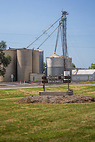 The grain elevator is one of the few remaining business's in the Village of Broadwell Illinois on Route 66.
