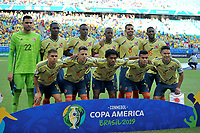 SALVADOR – BRASIL, 23-06-2019:Jugadores de Colombia posan para una foto previo al partido de la Copa América Brasil 2019, grupo B, entre Colombia y Paraguay jugado en el Arena Fonte Nova de Salvador, Brasil. / Players of Colombia pose to a photo prior a the Copa America Brazil 2019 group B match between Colombia and Paraguay played at Fonte Nova Arena in Salvador, Brazil. Photos: VizzorImage / Julian Medina / Cont /
